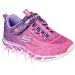 Girls' Skechers S Lights Litebeams Bungee Lace Sneaker Hot Pink/Purple