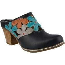 Women's L'Artiste by Spring Step Helga Clog Black Multi Leather