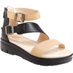 Women's Jambu Cape May Sandal Nude/Black Nappa Leather