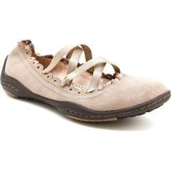 Women's Jambu Kettle Too Flat Khaki Shimmer Suede/Elastic
