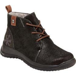 Women's Jambu Rossella Chukka Boot Black Shimmer Suede/Textured Wool