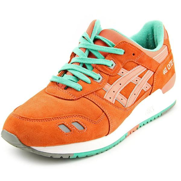 Asics Men's Gel-Lyte III Orange/Blue Suede Athletic Shoes