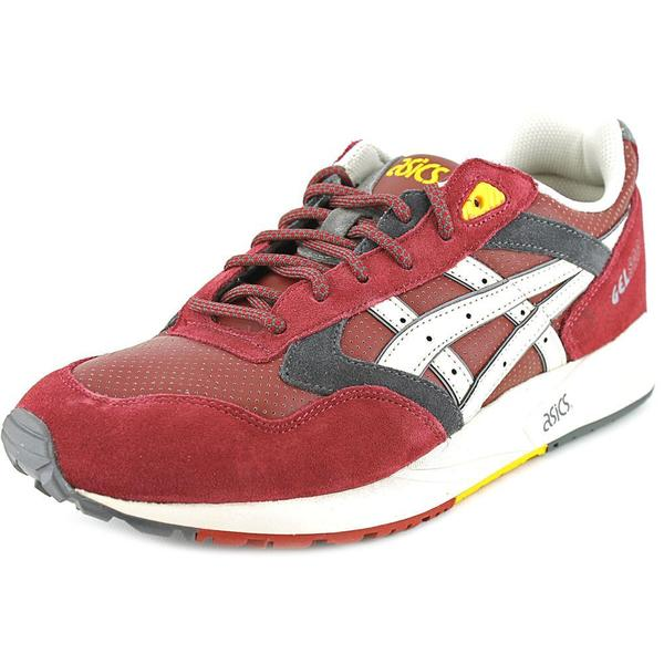 Asics Men's Gel Saga Red Suede and Synthetic Athletic Shoes