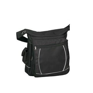 Goodhope Black 15-inch Laptop Sling Messenger Bag