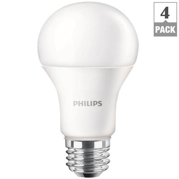 Philips 461137 A19 60-watt Equivalent Daylight LED Lightbulbs (Pack of 4)
