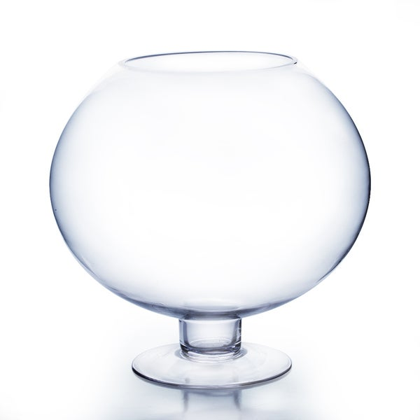 16-inch Tall Clear Stem Bow Vase