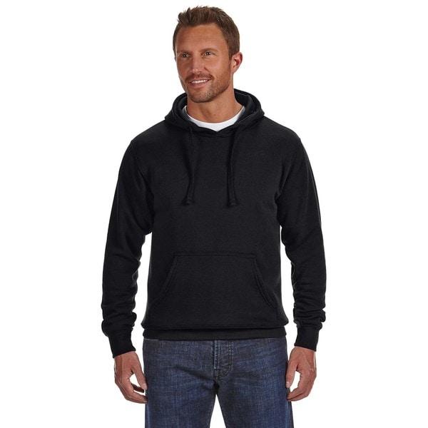 Cloud Men's Big and Tall Pullover Fleece Hood Black Sweatshirt