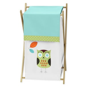 Sweet Jojo Designs Turquoise and Lime Hooty Collection Laundry Hamper