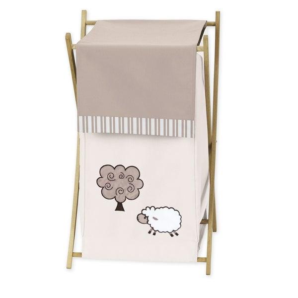 Sweet Jojo Designs Little Lamb Collection Laundry Hamper