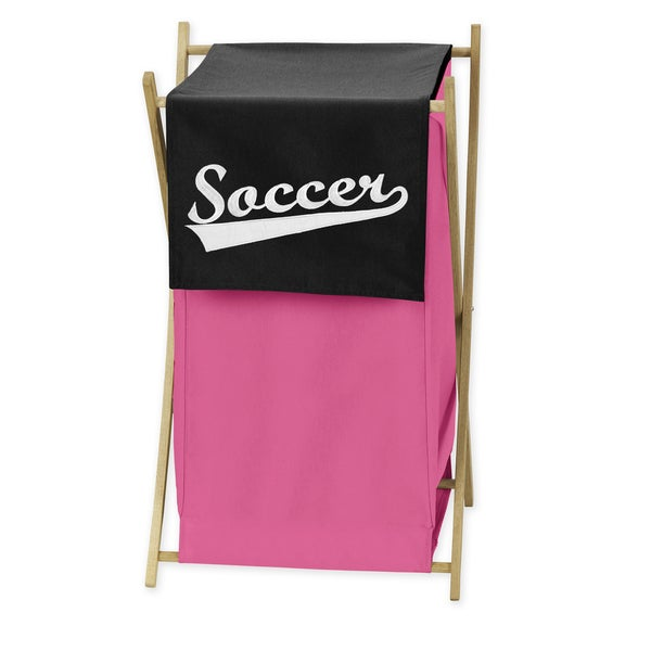 Sweet Jojo Designs Soccer Collection Multicolored Cotton Laundry Hamper 20024761