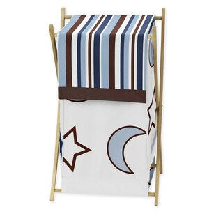 Sweet Jojo Designs Starry Night Collection Wooden-frame Cotton Mesh Laundry Hamper