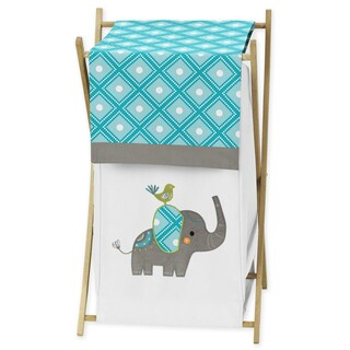 Sweet Jojo Designs Laundry Hamper for the Mod Elephant Collection