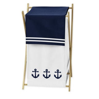 Sweet Jojo Designs Anchors Away Collection Laundry Hamper