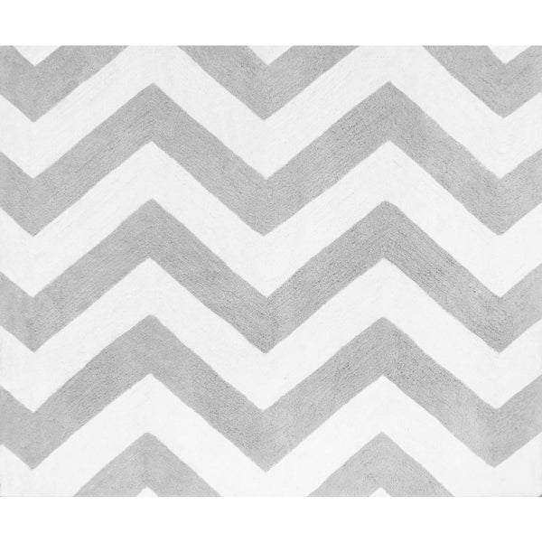 Sweet Jojo Designs Zig Zag Print Floor Rug for Grey and Yellow Zig Zag Collection