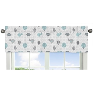 Sweet Jojo Designs Bird Print Earth Sky Collection Multicolored Fabric Window Curtain Valance