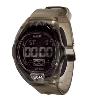 RBX Active Sport Digital Black Rubber Strap Watch