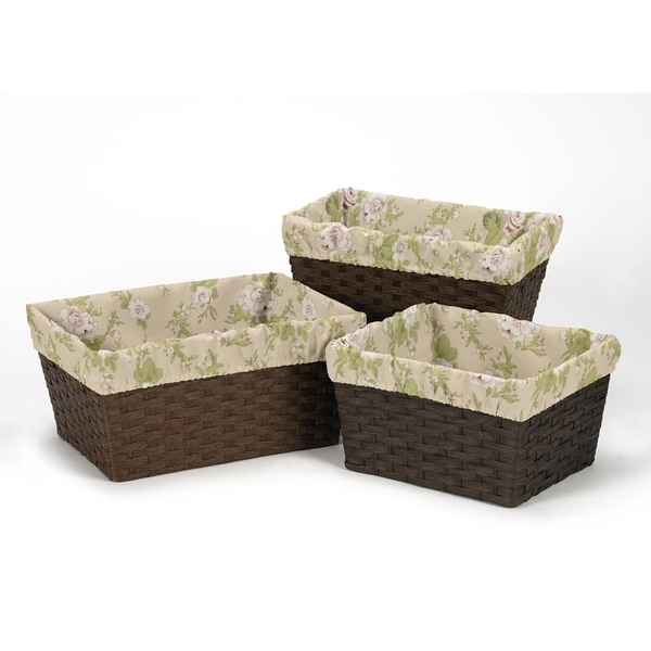 Sweet Jojo Designs Annabel Collection Basket Liners