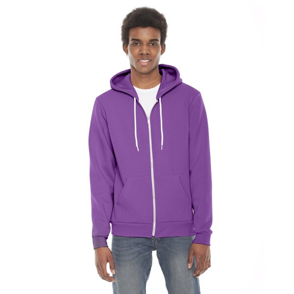 Unisex Flex Fleece Zip Dark Orchid Hoodie(S, XL)