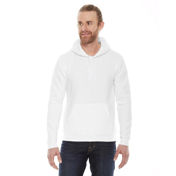 Unisex Flex Fleece Drop Shoulder Pullover White Hoodie