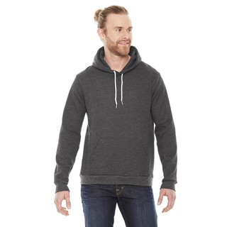 Unisex Flex Fleece Drop Shoulder Pullover Dark Heather Grey Hoodie