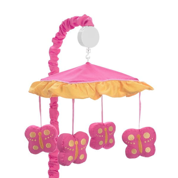 Sweet Jojo Designs Pink and Orange Butterfly Collection Musical Mobile