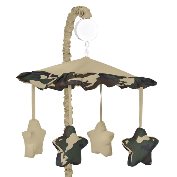 Sweet Jojo Designs Green Camo Collection Musical Mobile