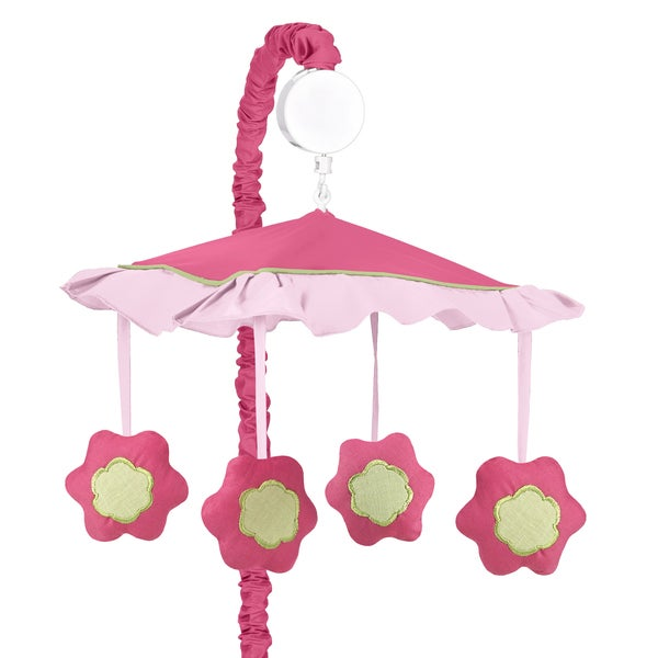 Sweet Jojo Designs Pink and Green Flower Collection Musical Mobile
