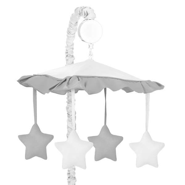 Sweet Jojo Designs White and Grey Hotel Collection Musical Mobile