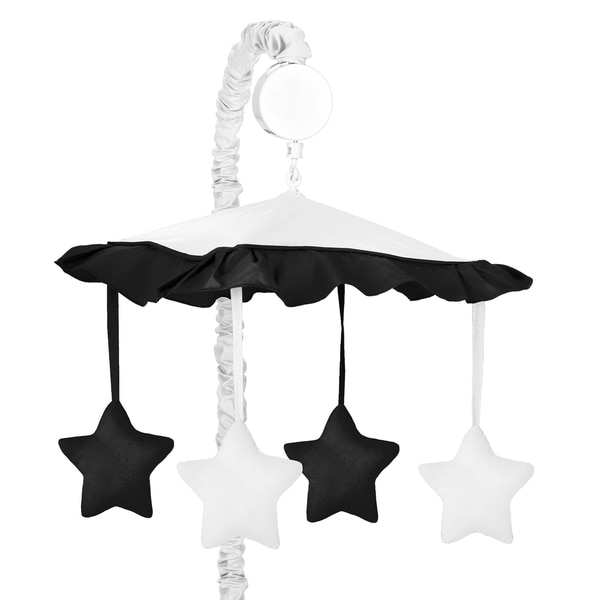 Sweet Jojo Designs White and Black Hotel Collection Musical Mobile