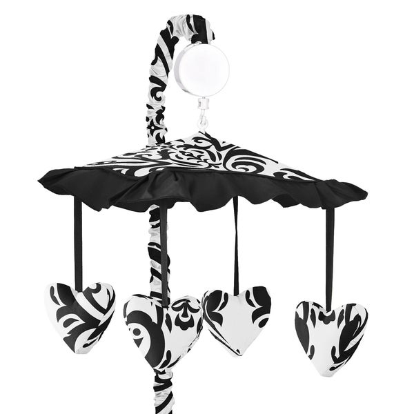 Sweet Jojo Designs Black and White Isabella Collection Musical Mobile
