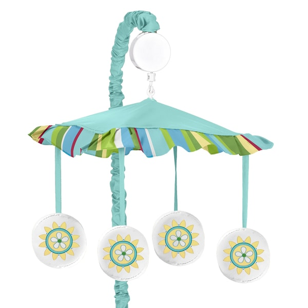 Sweet Jojo Designs Layla Collection Multicolor Fabric Wind-up Musical Mobile