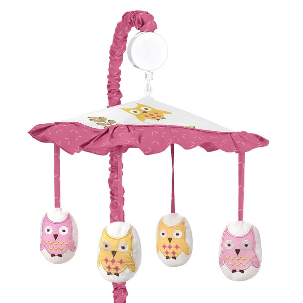 Sweet Jojo Designs Happy Owl Collection Musical Mobile