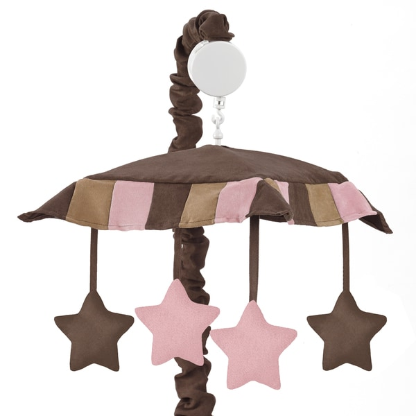 Sweet Jojo Designs Soho Pink and Brown Collection Musical Mobile