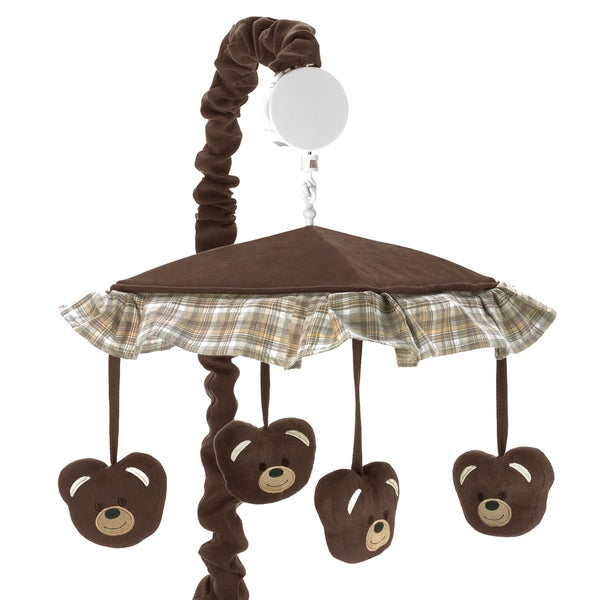 Sweet Jojo Designs Chocolate Teddy Bear Collection Musical Mobile