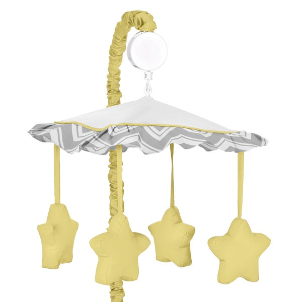 Sweet Jojo Designs Zig Zag Collection Grey/Yellow Musical Mobile