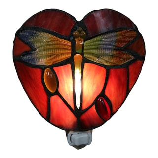 Filipa 1-light Red Dragonfly 6-inch Plug-in Wall Sconce with Bulb