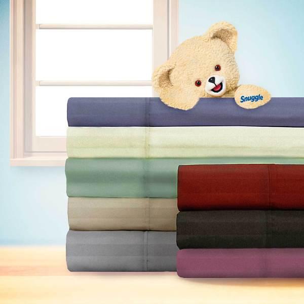 Snuggle Dobby Stripe Sheet Set with Deep Pockets