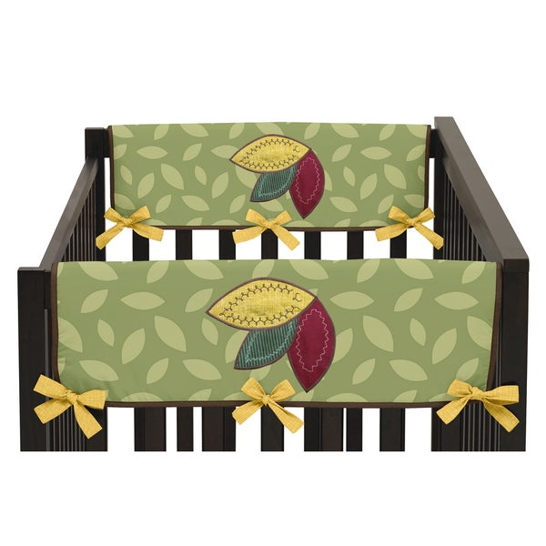Sweet Jojo Designs Side Crib Rail Guard Covers for Jungle Time Collection (Set of 2)