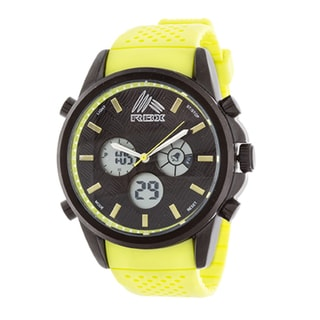 RBX Men's Sport Analog-Digital Yellow Strap Watch