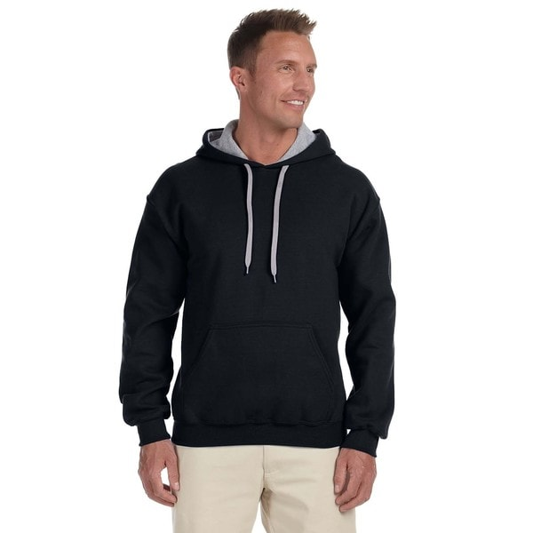 Men's 50/50 Contrast Black/Sportort Grey Hood(L)
