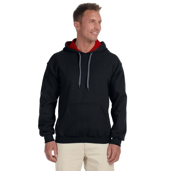 Men's 50/50 Contrast Black/Red Hood