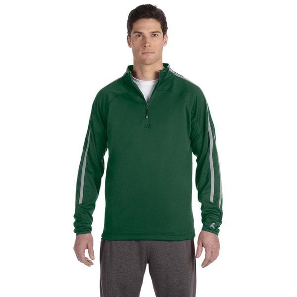 Tech Men's Fleece Cadet Dark Green/Steel Quarter-Zip 20030931