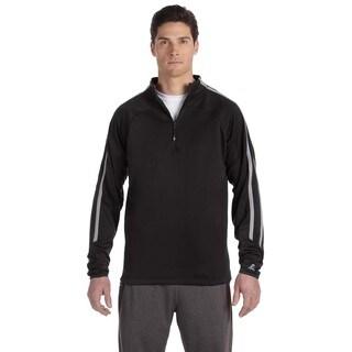 Tech Men's Fleece Cadet Black/Steel Quarter-Zip