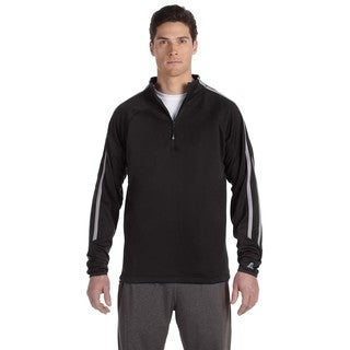 Tech Men's Big and Tall Fleece Cadet Black/Steel Quarter-Zip