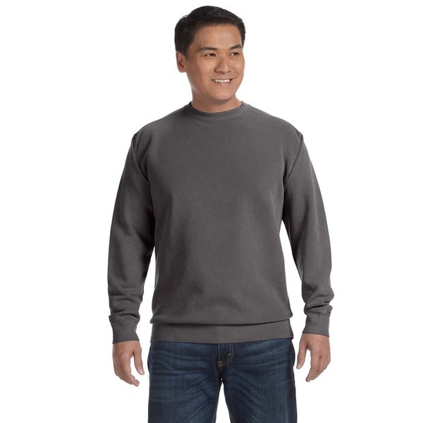 Garment-Dyed Fleece Men's Crew-Neck Pepper Sweater