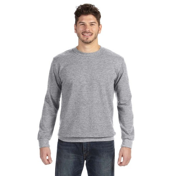 Adult Crew-Neck Men's French Terry Heather Dark Grey Sweater 20031137