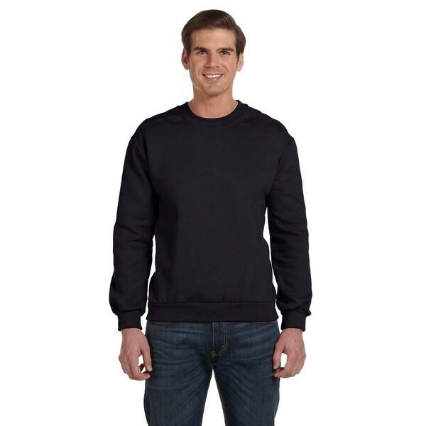 Crew-Neck Men's Fleece Black Sweater