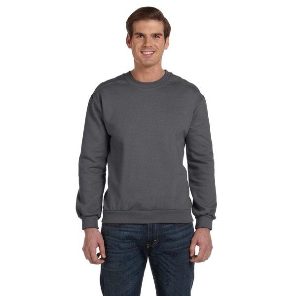 Crew-Neck Men's Fleece Charcoal Sweater 20031537