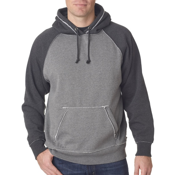 Vintage Men's Heather Men's Pullover Hood Smoke Heather/Charcoal Heather Sweater