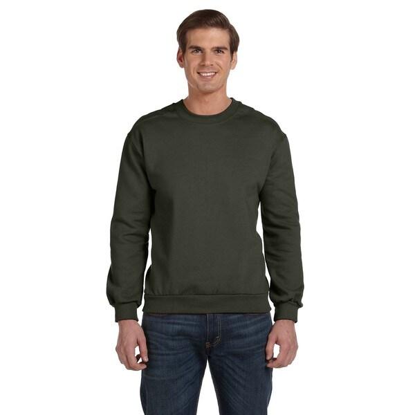 Crew-Neck Men's Fleece City Green Sweater